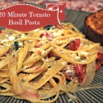 20 Minute One Pot Tomato Basil Pasta