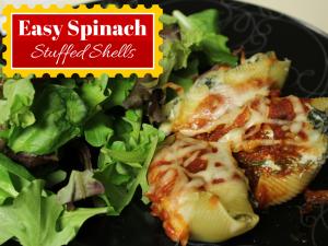 easy spinach stuffed shells