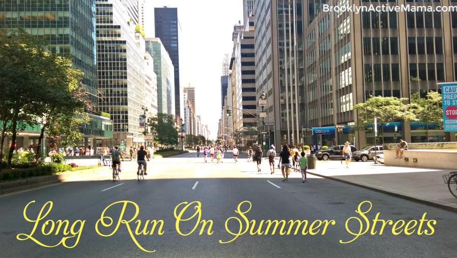 long run on summer streets