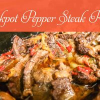 Easy Crockpot Pepper Steak Recipe
