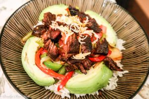 Steak and Vegetable Rice Bowl