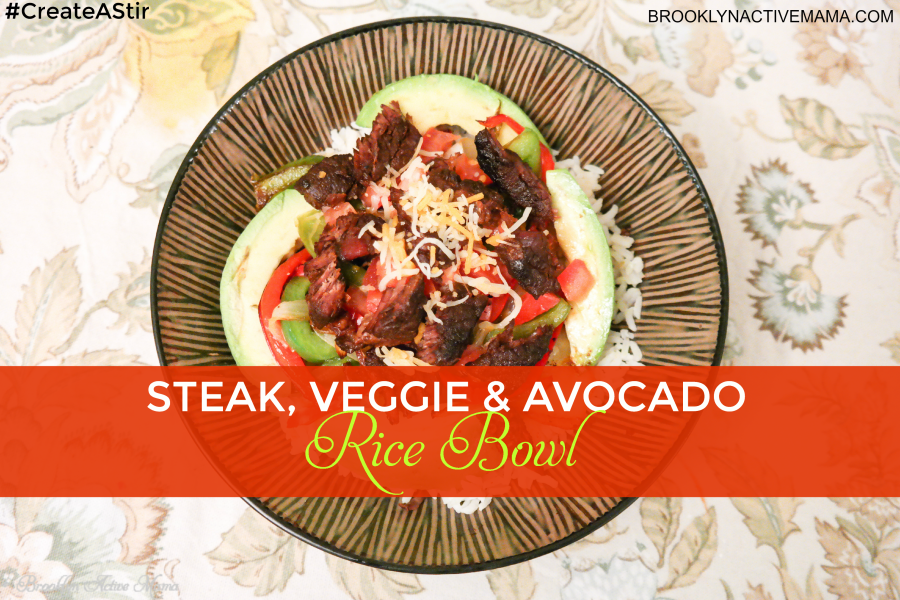 Steak Veggie and Avocado Rice Bowl