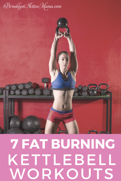 Check out these 7 Fat Burning Full Body Kettlebell Workouts for women and men!  These exercises include workout videos for the abs, glutes and so much more! Kettlebells are fantastic for weightloss too!