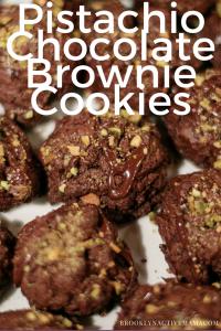 Chocolate Brownie Pistachio Cookies