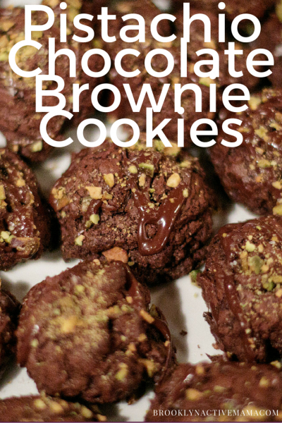 Chocolate Brownie Pistachio Cookies