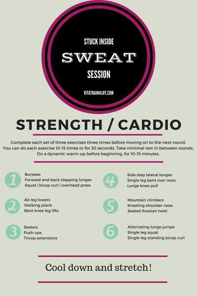 Stuck inside sweat session - Vita Train 4 Life