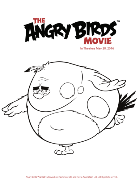 Free And Fun Angry Birds Coloring Pages Printables