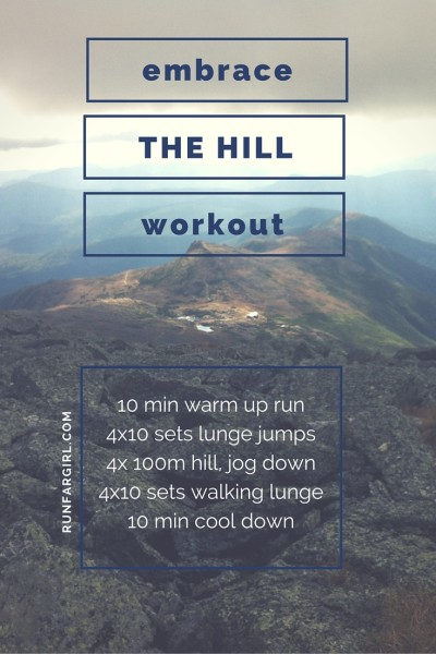Build power, leg strength and increase endurance with this hill workout for runners-RunFarGirl