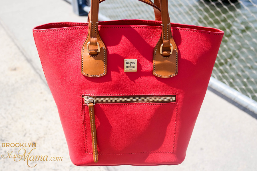 Dooney & Burke Leather Tara Shopper in Red