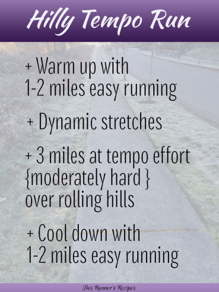This Runners Recipes Hilly Tempo Run