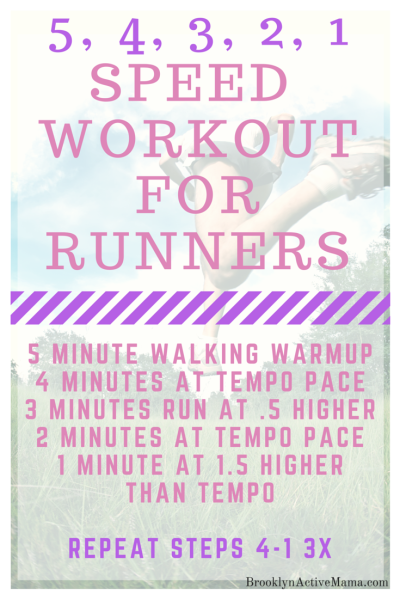 Speed Workout For Runners - BrooklynActiveMama.com
