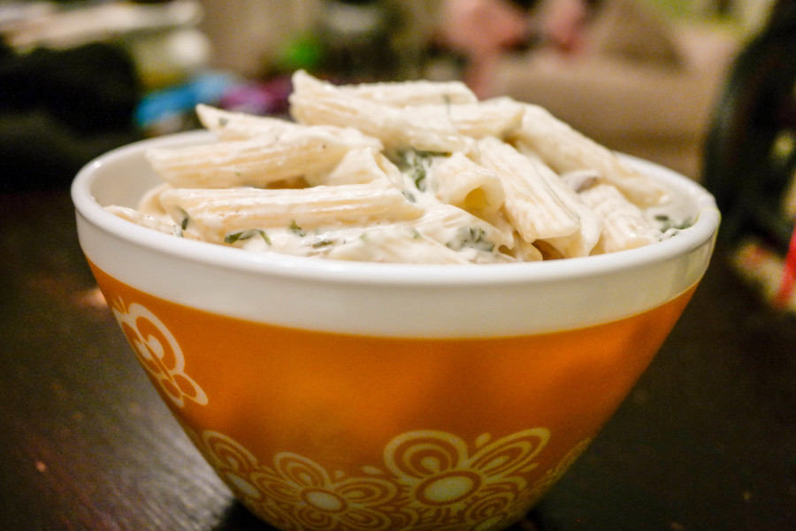 Spinach And Artichoke Creamy Penne Pasta Recipe-8650