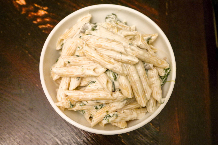 Spinach And Artichoke Creamy Penne Pasta Recipe-8656