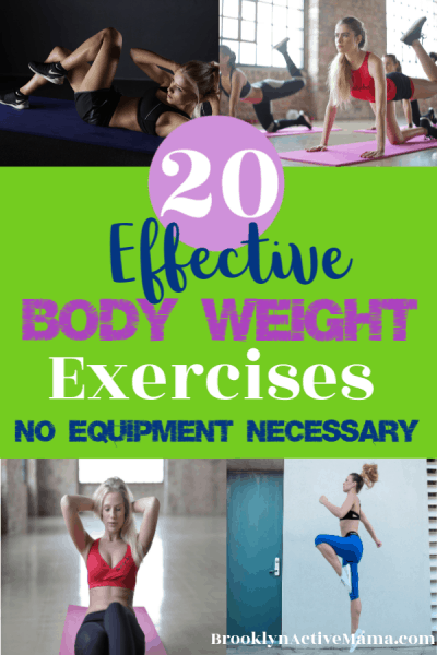 You don't need lots of equipment to have a great workout at home. Check out these great and effective body weight exercises!