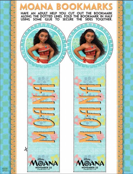 Free Moana Printables
