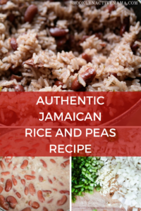 An amazing authentic Jamaican rice and peas recipe featuring scallions, thyme, coconut milk and dry beans. This recipe will have you feeling like you are back in the islands!