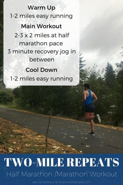 Conquer your next half marathon or full marathon training with these awesome workouts!