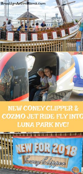 The Coney Clipper and Cozmo Jet are brand new to Luna Park NYC in 2018! Check out our review and pictures of these all new rides! #lunaparknyc #brooklyn #amusementpark #coneyisland