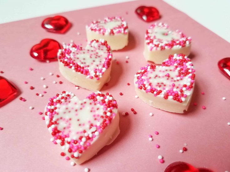 White Chocolate and Almond Heart Valentine's Day Treat