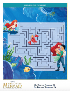 The Little Mermaid Activity Sheets and Coloring Pages (Printables)