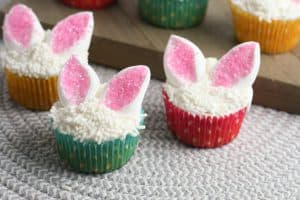 Cute And Easy Easter Bunny Ear Cupcakes are easy to make and sure to impress at any Spring event!