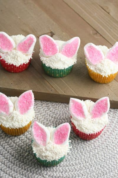 Cute and Easy Bunny Ear Cupcakes