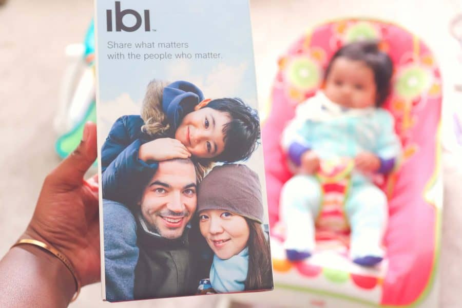 The ibi is the perfect solution because I can share daily pictures, give private access to friends and family and they can check it whenever they want to.