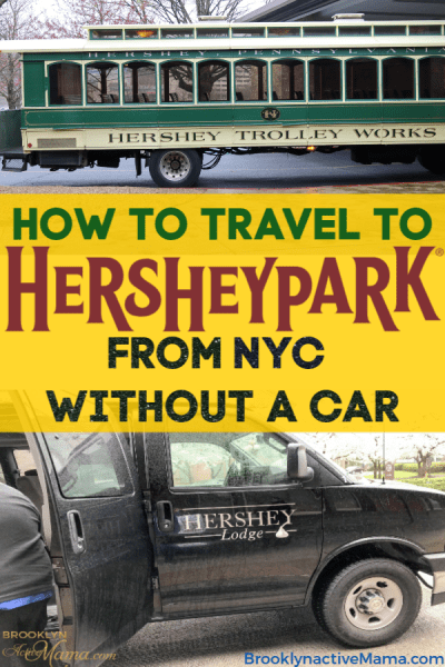 I had no idea how easy it was to get to Hershey Pennsylvania without a car until I tried it for myself! Check out these easy steps to getting to the parks, and the resorts from NYC.