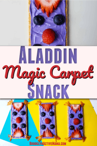 Who doesn't love the Aladdin Movie? Check out this super easy magic carpet Disney inspired snack recipe that the kids will love to make at home! #aladdin #disneyrecipe #kidrecipes