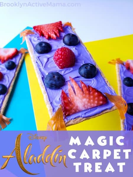 Who doesn't love the Aladdin Movie? Check out this super easy magic carpet Disney inspired snack recipe that the kids will love! #aladdin #disneyrecipe #disneymovie