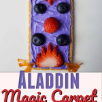 Who doesn't love the Aladdin Movie? Check out this super easy magic carpet Disney inspired snack recipe that the kids will love! #aladdin #disneyrecipe #kidrecipes