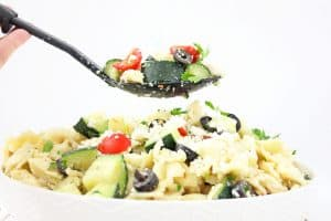 Check out this pretty amazing Tomato Cucumber Greek Pasta Salad that is perfect for any summer soiree (or any time you are in the mood for pasta salad!)