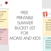 Free Printable Summer Bucket List For Kids and For Moms!
