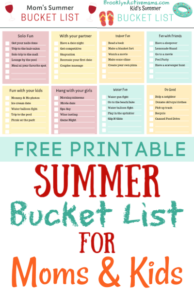 Summertime comes and goes so quickly! Be intentional with your summer and download this free summer bucket list printable for moms and kids!
