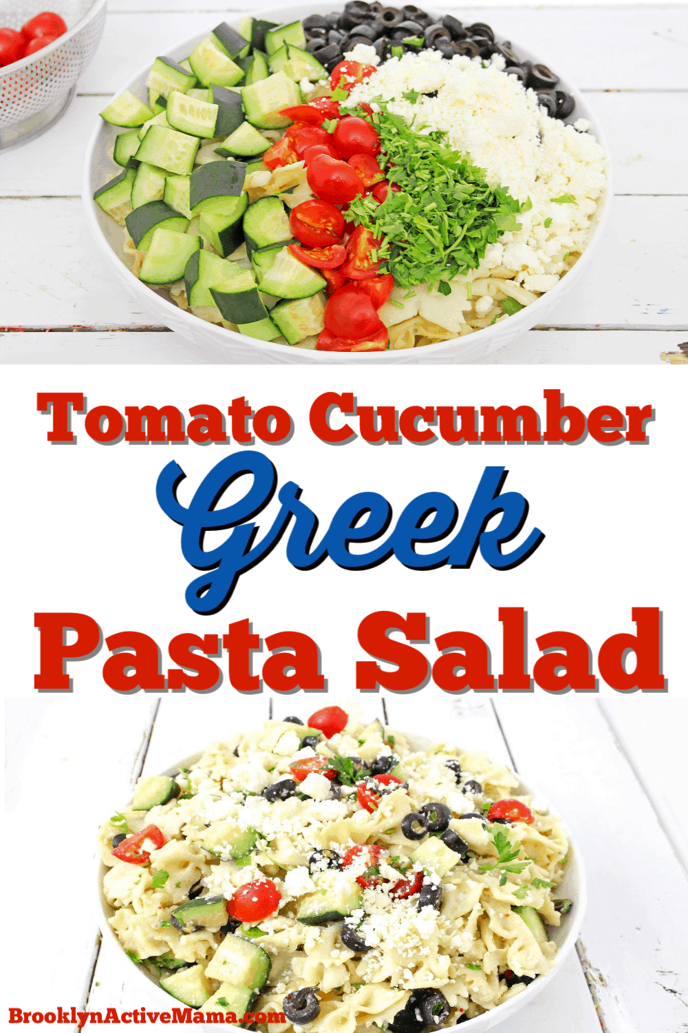 Check out this pretty amazing Tomato Cucumber Greek Pasta Salad that is perfect for any summer soiree (or any time you are in the mood for pasta salad!). Plus I'm sharing some great ideas for summer salads perfect for bbqs and outdoor get togethers. #pastasalad #greeksalad #summerrecipe