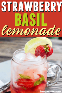Looking for a refreshing drink? Check out this easy and delicious strawberry basil lemonade recipe! Perfect for BBQs, outdoor events and parties! #lemonade #parties #hosting #lemonaderecipes
