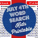 July 4th Kids Word Search Printable + Fourth Of July Activities For Kids
