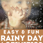 Check out these super easy and fun rainy day ideas for kids. Great ideas to keep kids busy for toddlers, preschoolers, and even elementary kids!