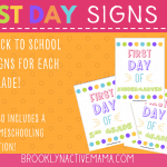 First Day Of School Printables For Every Grade