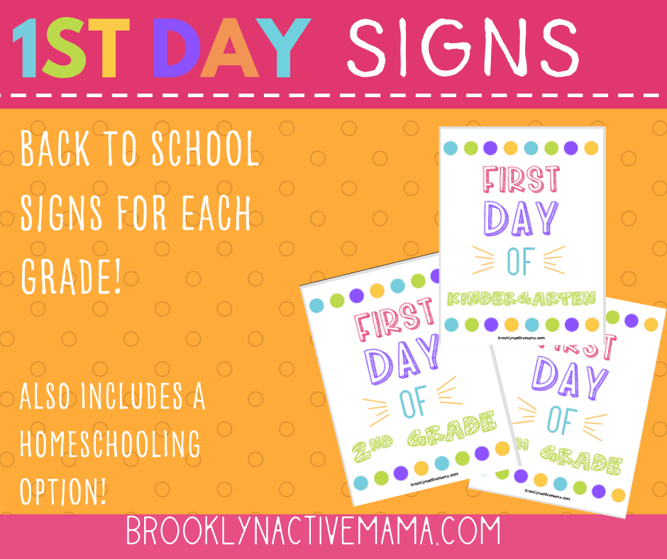 First Day Of School Printables For Every Grade Including