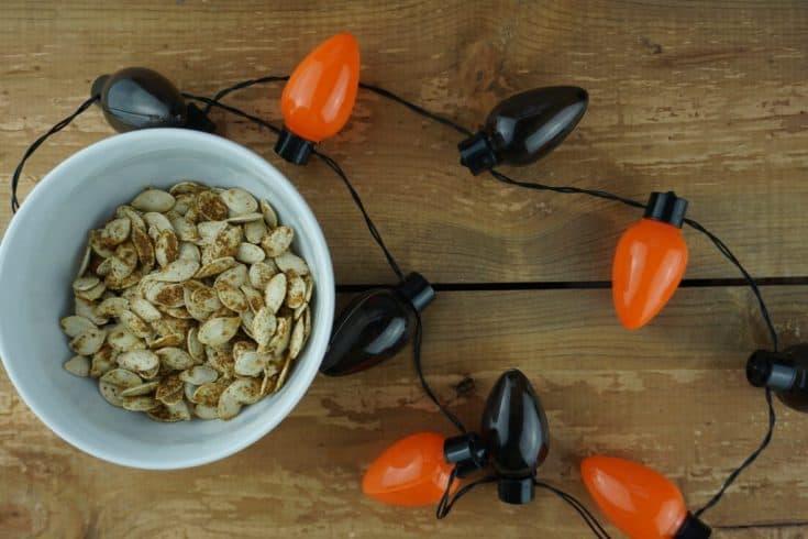 Old Bay Roasted Pumpkin Seeds