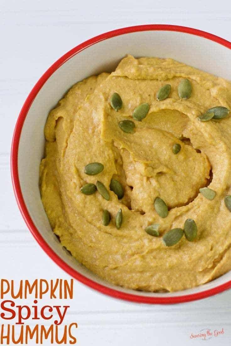 Easy Pumpkin Spicy Hummus Food Processor Recipe