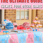 Here are some tips to plan a gender reveal party including theme, food, games and decoration. Learn how to plan a spectacular event for your guests. #genderreveal #boyorgirl #genderrevealparty