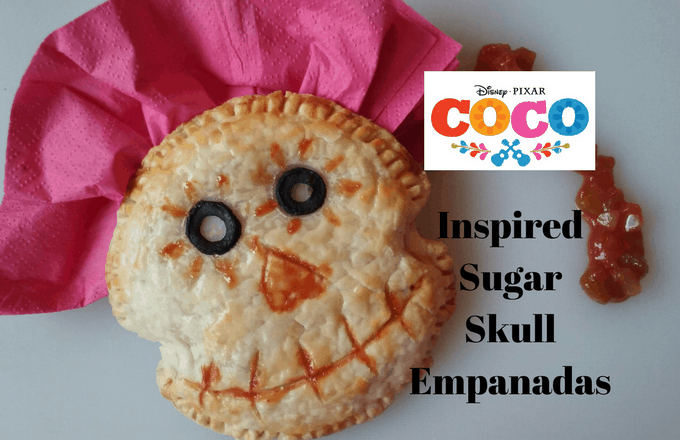 Disney Pixar Coco Inspired Sugar Skull Empanadas