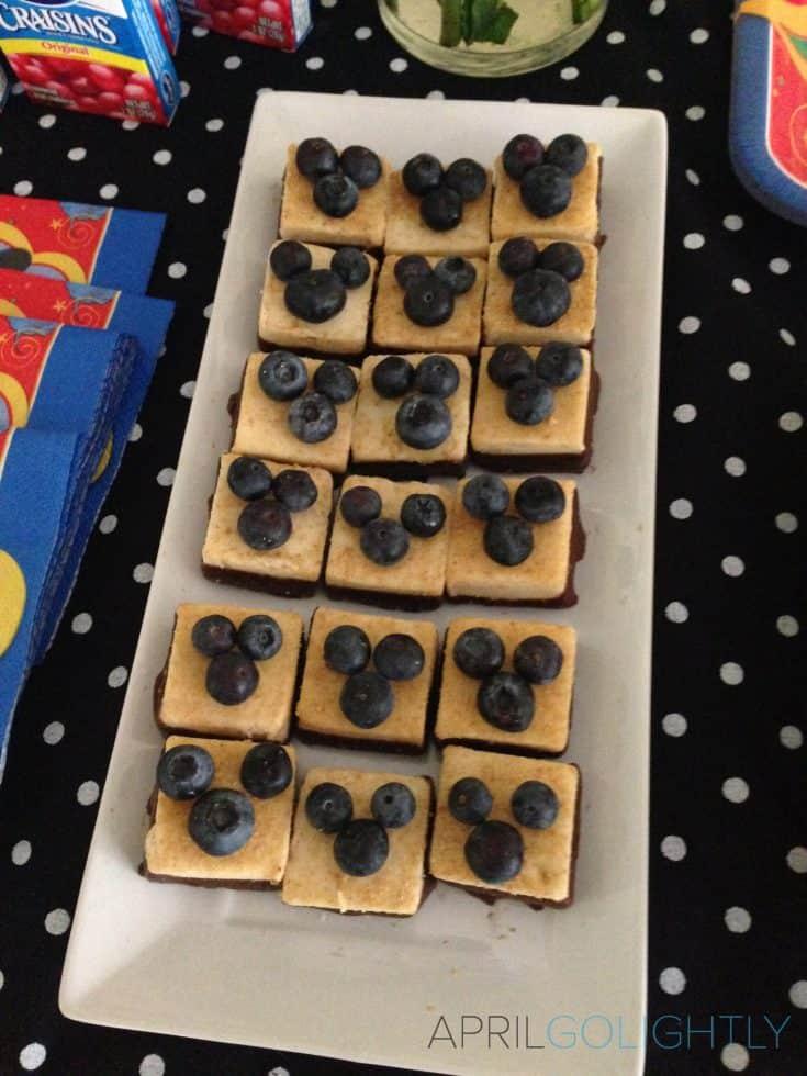 Mickey Mouse Mini Blueberry Cheese Cake Bites