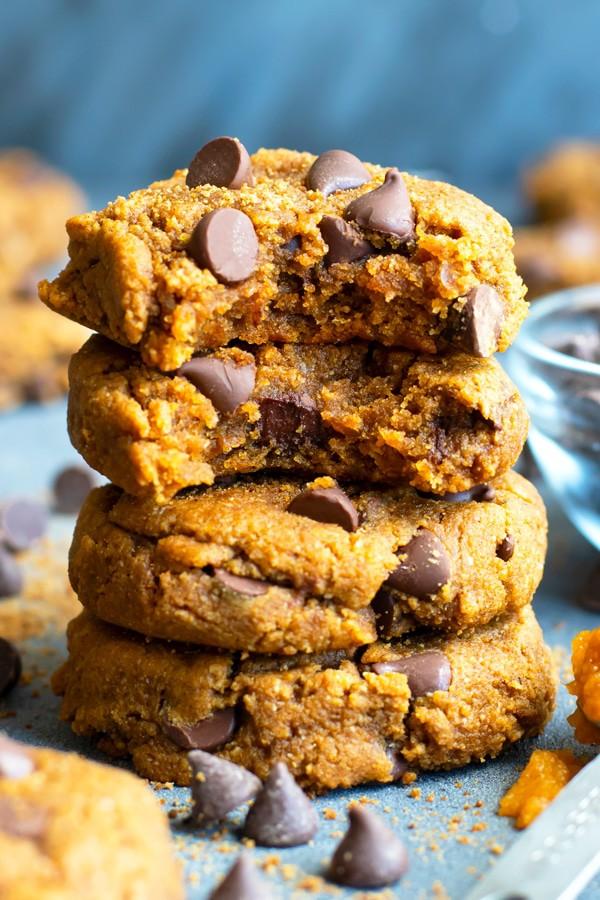 Healthy Pumpkin Chocolate Chip Cookies | Gluten-Free + Vegan