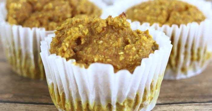 Healthy Pumpkin Muffins With No Flour, Oil, or Refined Sugar
