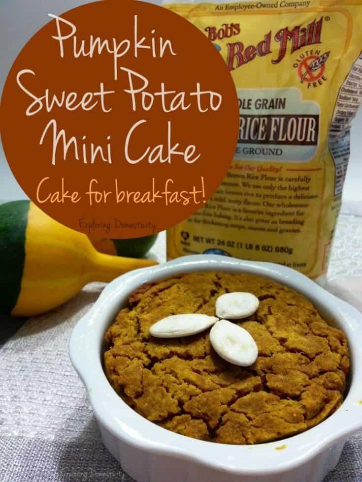 Cake for Breakfast! Pumpkin Sweet Potato Mini Cake ⋆ Exploring Domesticity