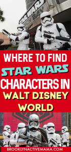 Planning a Disney trip to check out the brand new galaxy's edge? Don't forget to get your star wars character photos! Disney's Hollywood Studios, the official park of Star Wars has all the places to find Star Wars characters in Disney World. #galaxysedge #starwars