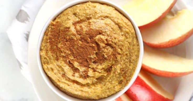 Sweet Pumpkin Hummus {Dairy & Gluten Free}